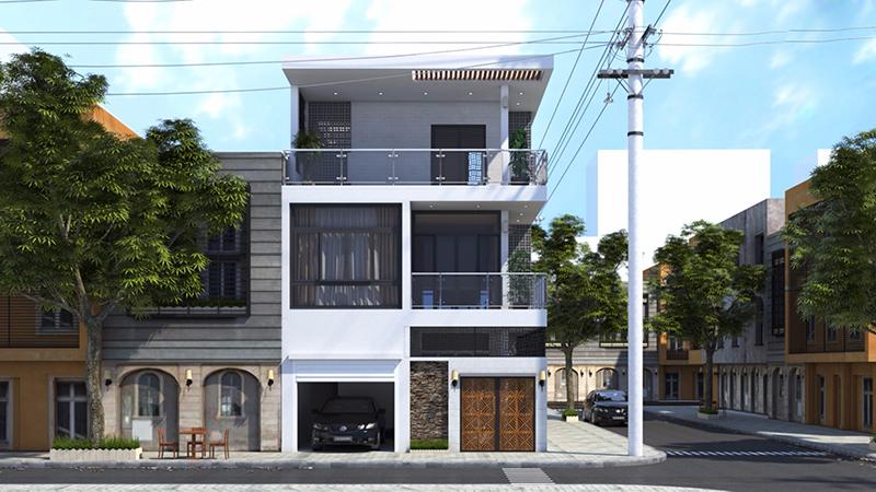 Mẫu nhà phố 2.5 tầng đẹp
