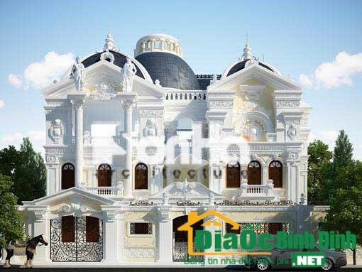Mẫu biệt thự cổ điển 2 tầng kiểu pháp