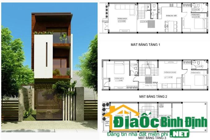 Mẫu nhà đẹp 2 tầng 1 tum diện tích nhỏ trên lô đất mặt tiền phố 192m2 tại Hưng Yên